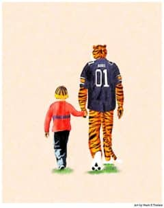 Auburn Art For Kids by Mark Tisdale