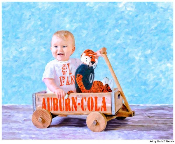 Auburn Baby Art- Nursery Decor by Mark Tisdale