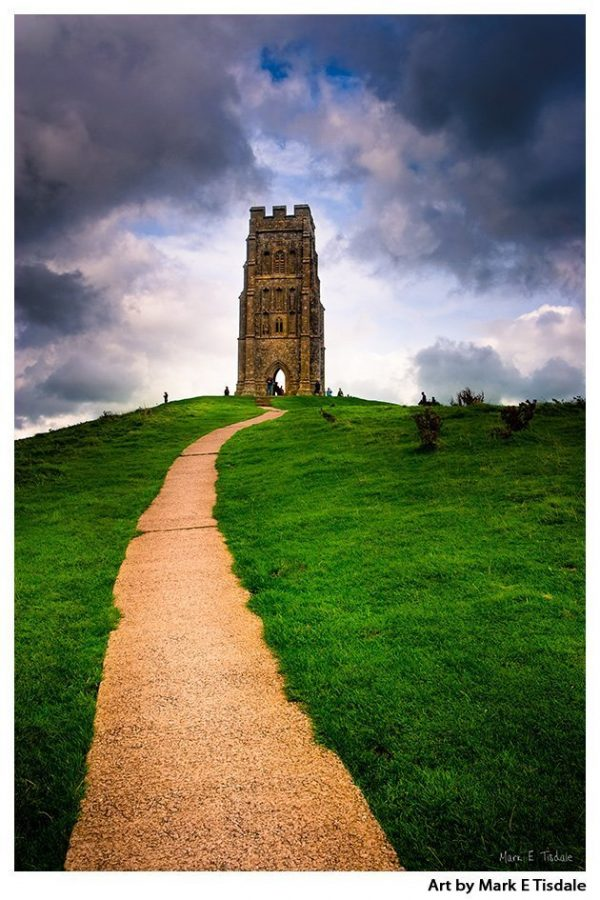 Glastonbury Tor Print by Mark Tisdale - Mystical Avalon in Somerset England