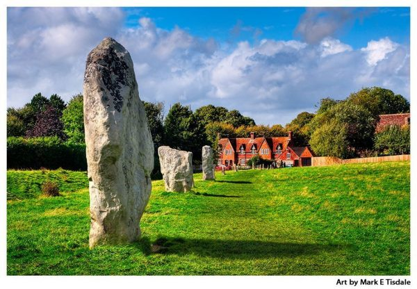 Stone Circle Within Avebury Village - Neolithic England Print by Mark Tisdale