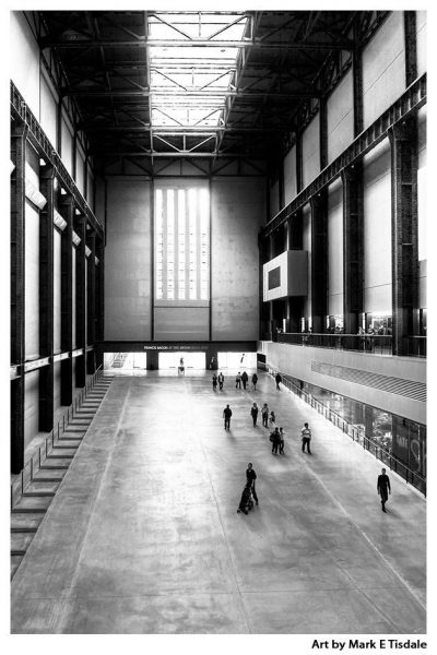 Turbine Hall Print by Mark Tisdale - Old Bankside Power Station in London