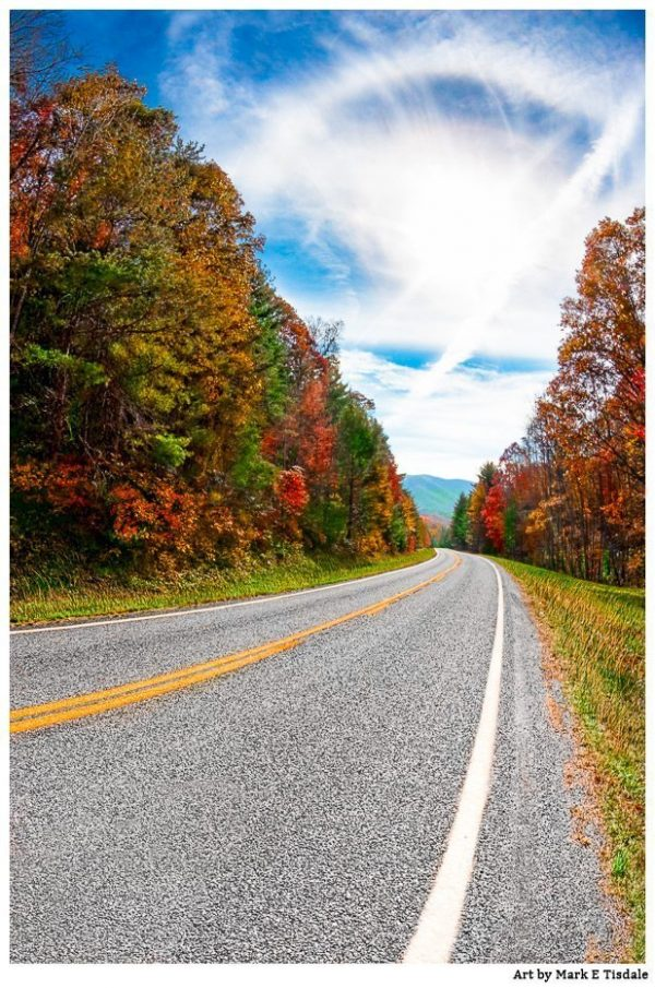 North Georgia Mountain Roads in the Fall Print by Mark Tisdale