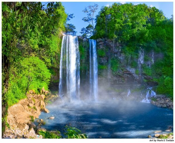 Beautiful Waterfalls in A Mexican Landscape - Chiapas Print by Mark Tisdale