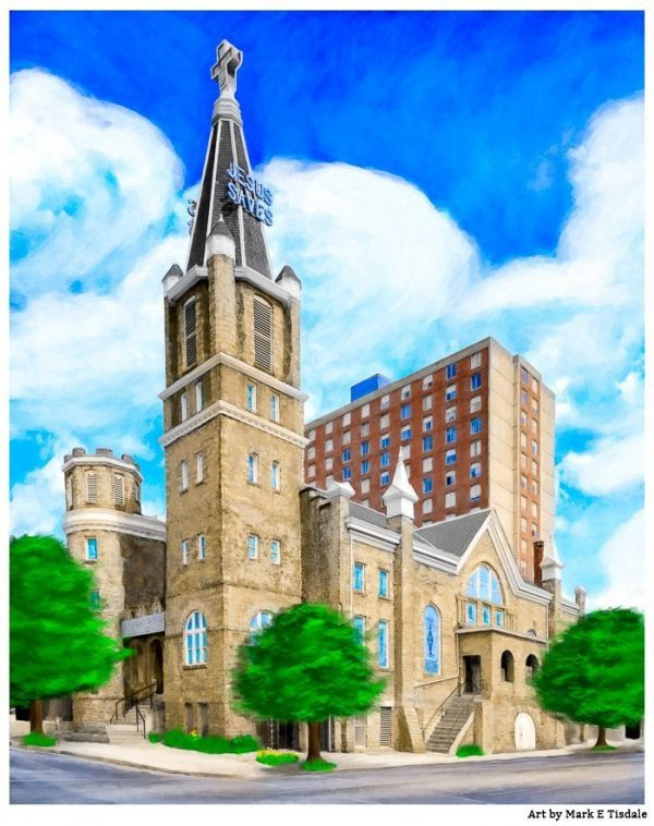 Big Bethel Church - Sweet Auburn - Atlanta Print by Mark Tisdale
