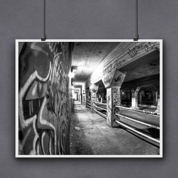 Black And White Krog Street Print For Framing by Georgia Artist Mark Tisdale