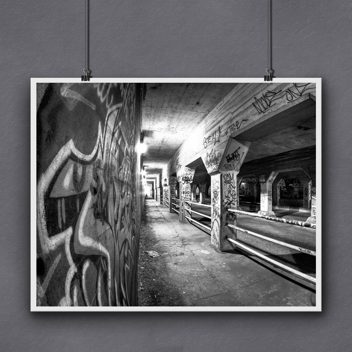 Black And White Krog Street Tunnel Print Atlanta