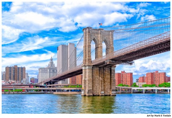 Brooklyn Bridge Art Print by Mark Tisdale - New York City Landmark