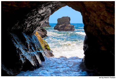 Sea Cave Print by Mark Tisdale - Northern California Coast