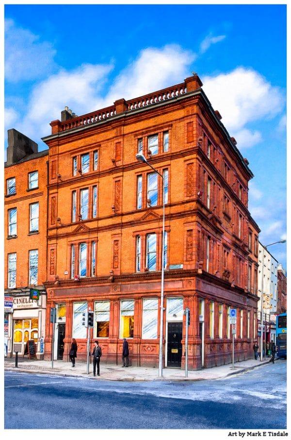Dublin Street Corner - Cavendish Row - Ireland Print by Mark Tisdale