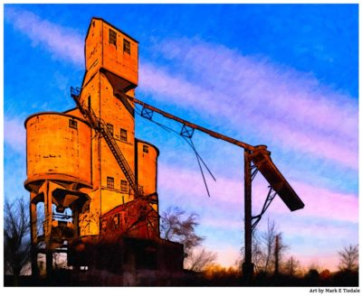 Central of Georgia Coaling Tower in Macon Georgia - Print by local artist Mark Tisdale