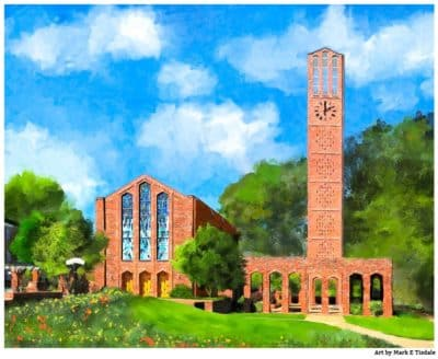 Chapel of Memories - Mississippi State Print by Mark Tisdale