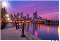 Chicago Skyline as Dusk Falls - Print by Mark Tisdale