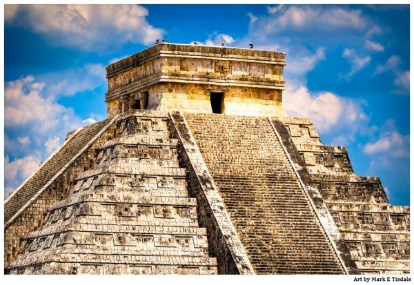 Chichen Itza Pyramid Print by Mark Tisdale - Mayan Temple