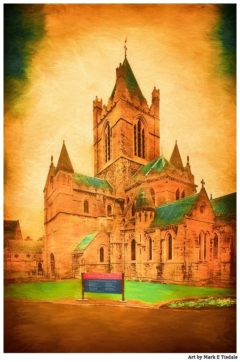 Dublin's Christ Church Cathedral - Vintage Style Print By Mark Tisdale