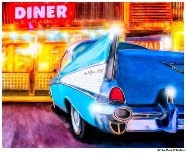 Classic 1957 Chevy Tail Fin Art Print by Mark Tisdale