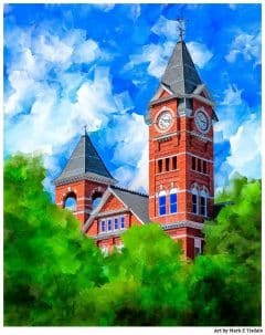 Classic Auburn University Samford Hall Print by artist Mark Tisdale