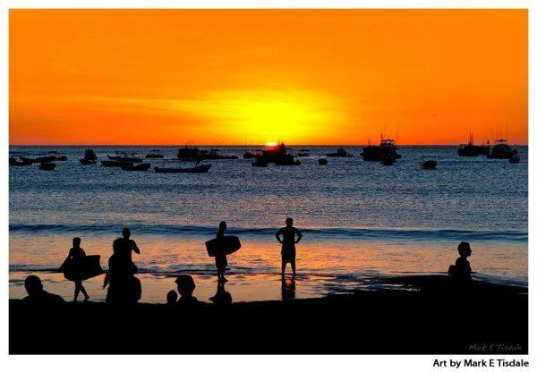 San Juan del Sur Nicaragua - Classic Beach Sunset Print by Mark Tisdale
