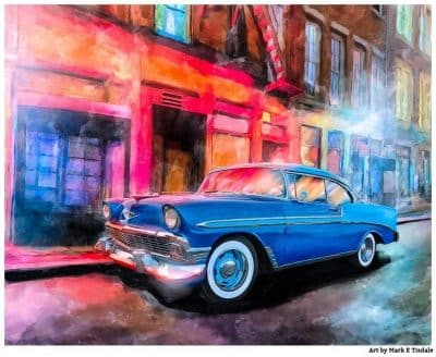 1956 Classic Chevy Bel Air Artwork - Print by Mark Tisdale