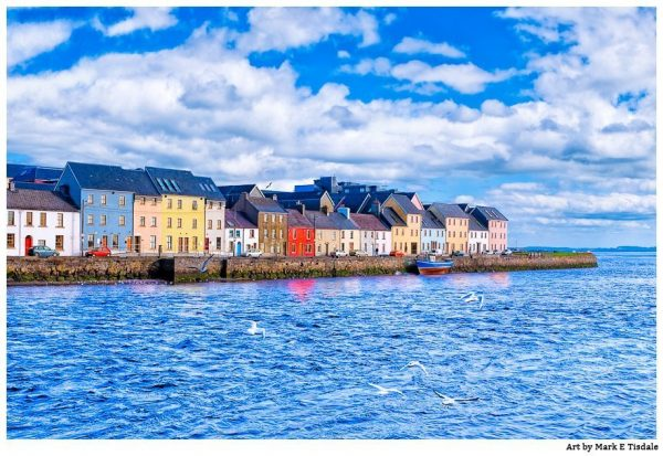 Galway Waterfront Artwork - Classic Ireland Print by Mark Tisdale