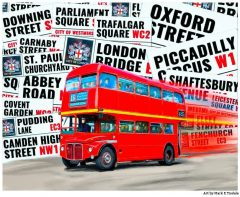 Red Double Decker Routemaster - Classic London Bus Print by Mark Tisdale