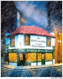 The Old Curiosity Shop - London Art Print by Mark Tisdale