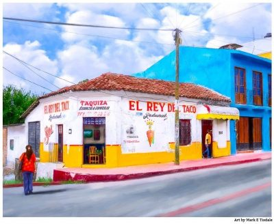 Taquiza in Chiapas - Classic Mexico Art Print by Mark Tisdale