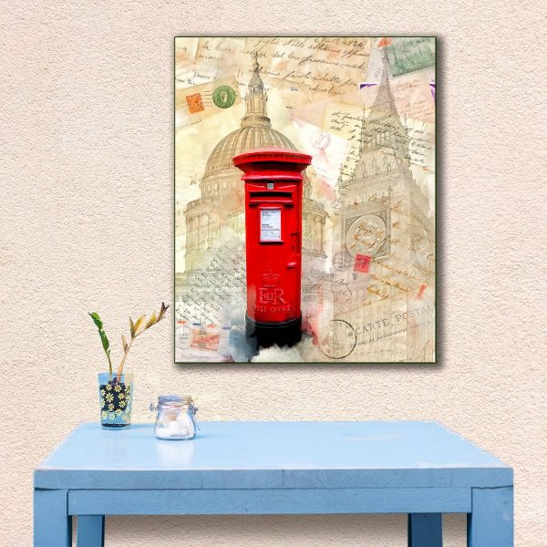 Classic Red British Post-Box - London Canvas Print by Mark Tisdale