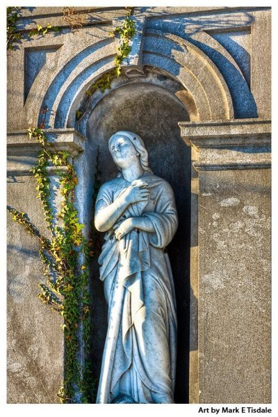 Lady of Glasnevin - classical Statuary - Dublin Ireland Classical Statue Print by Mark Tisdale