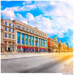Clerys On O'Connell Street in Dublin Ireland - Print by Mark Tisdale