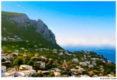 Coastal Capri Landscape - beautiful Isle of Capri Italy Print by Mark Tisdale