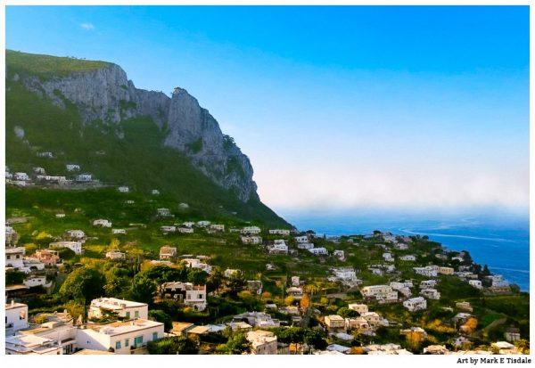 Coastal Capri Landscape - beautiful Isle of Capri Italy Print by Mark Tisdale
