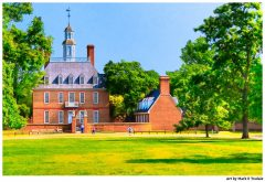 Colonial Georgian Palace in Historic Williamsburg Virginia - Print by Mark Tisdale