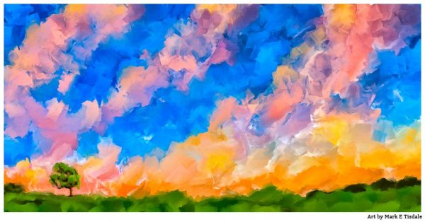 Colorful Abstract Landscape Painting by artist Mark Tisdale