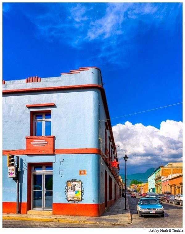 Art Deco Style Meets Colorful Mexico - Oaxaca Print by Mark Tisdale