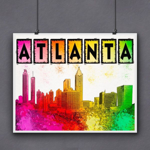 Colorful Atlanta Skyline Fine Art Print by Mark Tisdale
