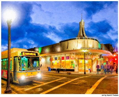 Coolidge Corner in the Boston Brookline Neighborhood - Print By Mark Tisdale