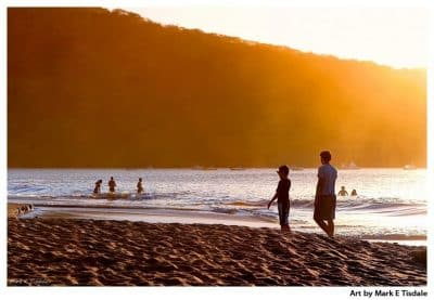 Costa Rica Beach Sunset Print by Mark Tisdale