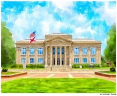 Historic Covington County Courthouse in Andalusia Alabama - Print by Mark Tisdale
