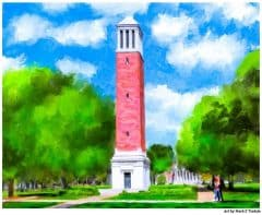 Denny Chimes Painting - University of Alabama Print by Mark Tisdale
