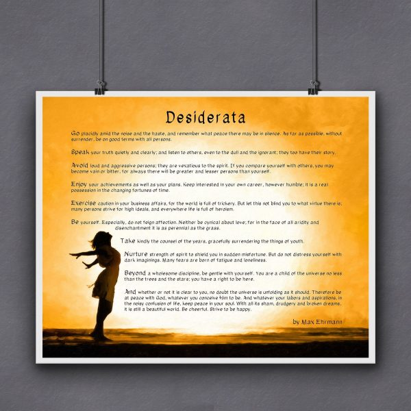 Desiderata Poem Fine Art Print For Sale by Mark Tisdale