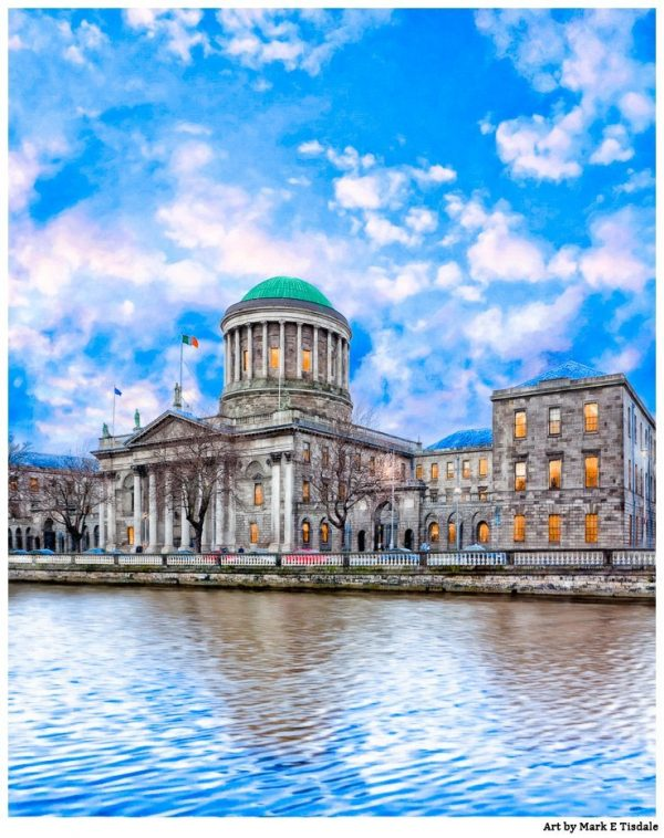 Four Courts Building in Historic Dublin Ireland - Print by Mark Tisdale