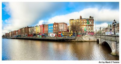 Dublin Panorama - River Liffey and the North Quay - Print by Mark Tisdale