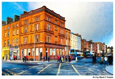 Dublin Streets - Irish street scene Print by Mark Tisdale