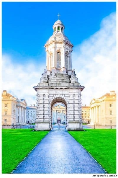 Iconic campanile at Trinity College in Dublin Ireland - Print by Mark Tisdale