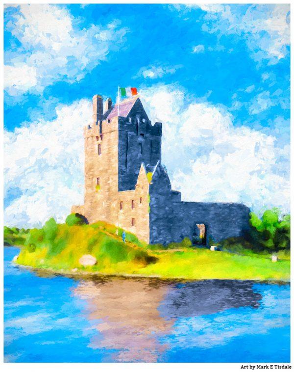 Dunguaire Castle Print by Mark Tisdale - Historic Irish Castle