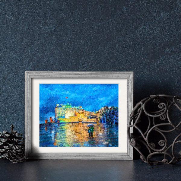 Edinburgh Castle Framed Print by Artist Mark Tisdale