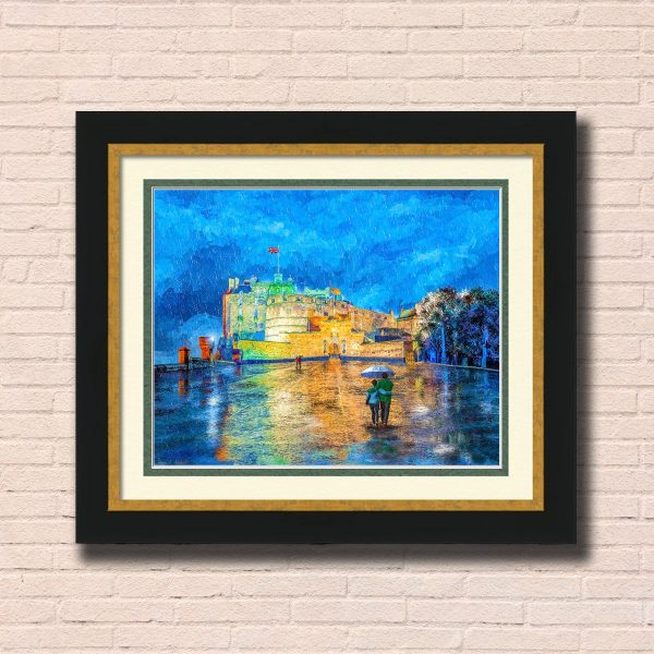 Edinburgh Castle Framed Wall Art by Mark Tisdale
