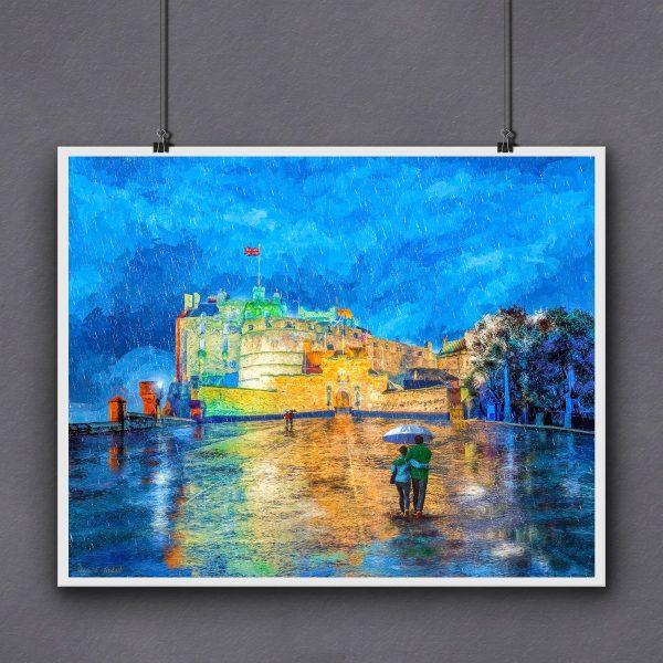 Edinburgh Castle Print For Framing