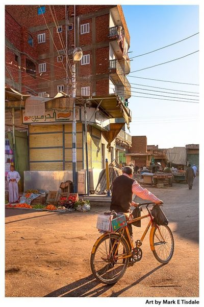 Streets of an Egyptian Village - Daraw - Egypt Print by Mark Tisdale