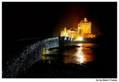 Eilean Donan Castle at Night - Scottish Castle Print by Mark Tisdale